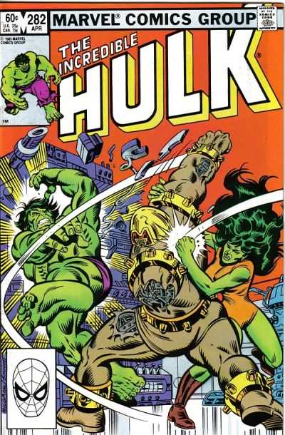 Incredible Hulk #282 comic books - cover scans photos Incredible Hulk #282 comic books - covers, picture gallery