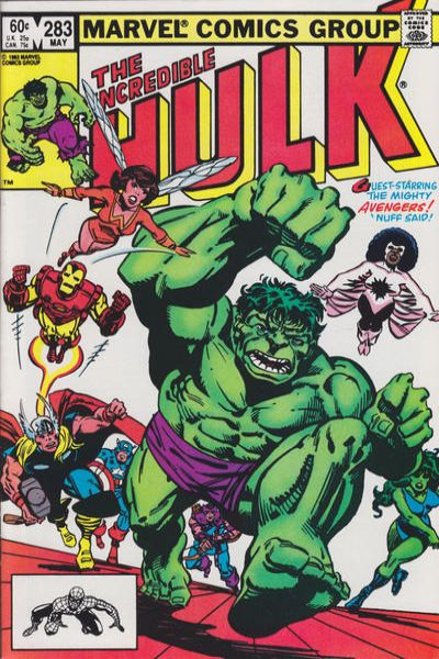 Incredible Hulk #283 comic books for sale