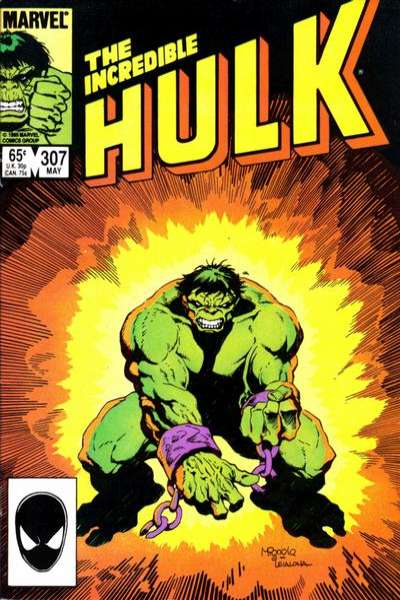Incredible Hulk #307 comic books for sale