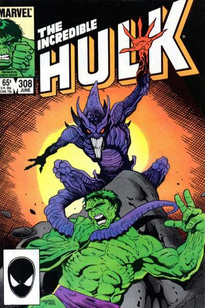 Incredible Hulk #308 comic books for sale