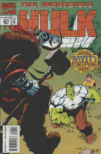 Incredible Hulk #421 comic books - cover scans photos Incredible Hulk #421 comic books - covers, picture gallery