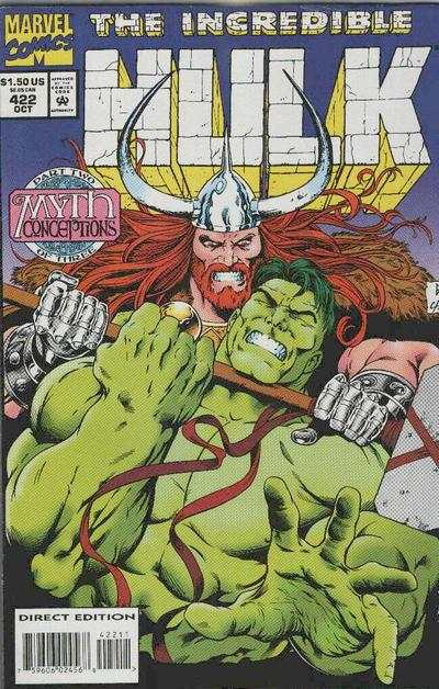 Incredible Hulk #422 comic books - cover scans photos Incredible Hulk #422 comic books - covers, picture gallery
