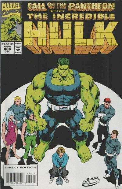 Incredible Hulk #424 comic books - cover scans photos Incredible Hulk #424 comic books - covers, picture gallery