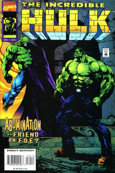 Incredible Hulk #431 comic books - cover scans photos Incredible Hulk #431 comic books - covers, picture gallery