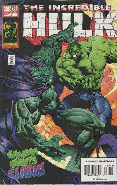 Incredible Hulk #432 comic books - cover scans photos Incredible Hulk #432 comic books - covers, picture gallery