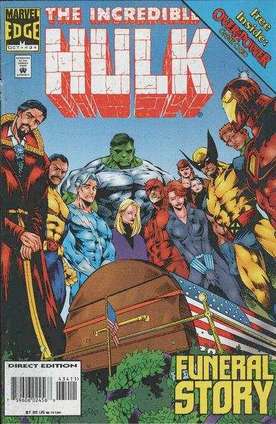 Incredible Hulk #434 comic books - cover scans photos Incredible Hulk #434 comic books - covers, picture gallery