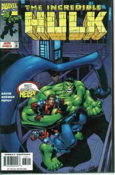 Incredible Hulk #465 comic books - cover scans photos Incredible Hulk #465 comic books - covers, picture gallery