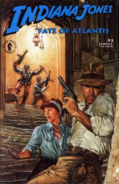 Indiana Jones and the Fate of Atlantis #3 comic books - cover scans photos Indiana Jones and the Fate of Atlantis #3 comic books - covers, picture gallery