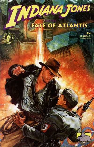 Indiana Jones and the Fate of Atlantis #4 comic books - cover scans photos Indiana Jones and the Fate of Atlantis #4 comic books - covers, picture gallery