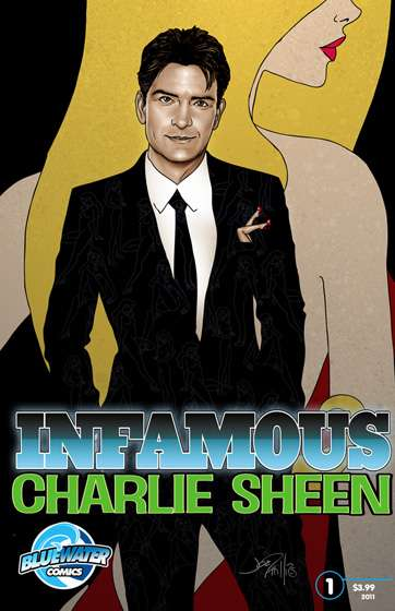 Infamous Charlie Sheen comic books