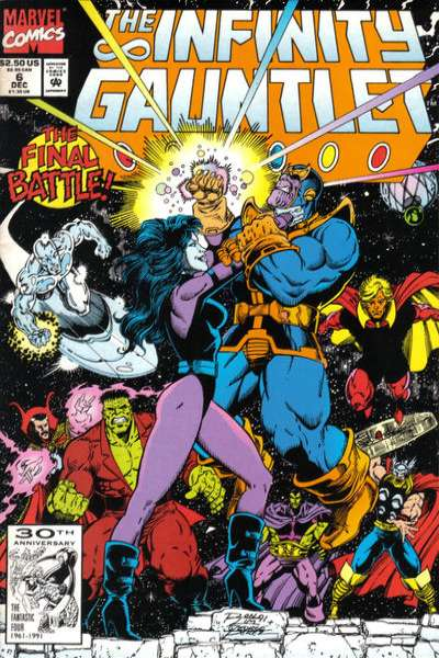 Infinity Gauntlet #6 comic books for sale