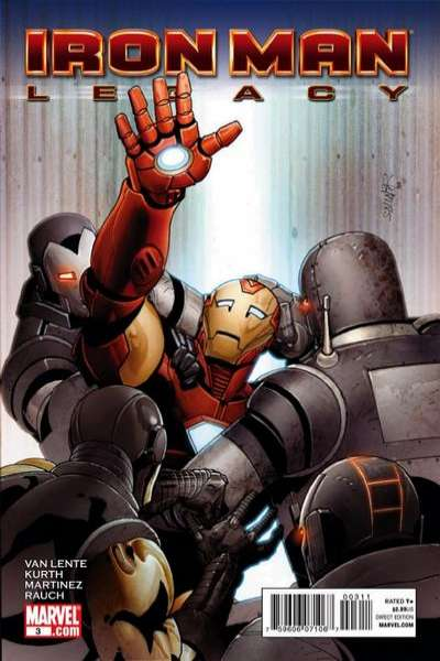 Iron Man: Legacy #3 comic books - cover scans photos Iron Man: Legacy #3 comic books - covers, picture gallery