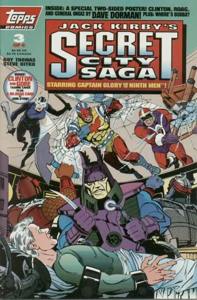 Jack Kirby's Secret City Saga #3 comic books - cover scans photos Jack Kirby's Secret City Saga #3 comic books - covers, picture gallery