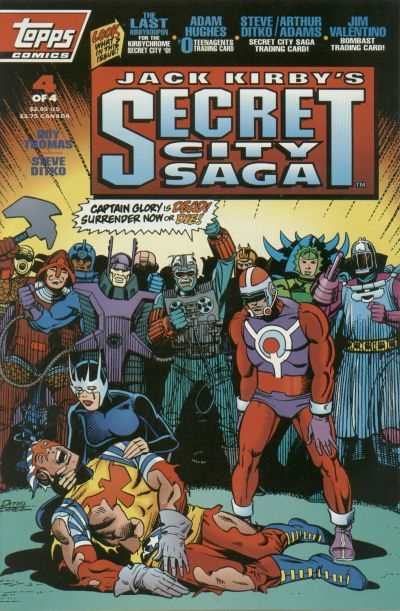 Jack Kirby's Secret City Saga #4 comic books - cover scans photos Jack Kirby's Secret City Saga #4 comic books - covers, picture gallery