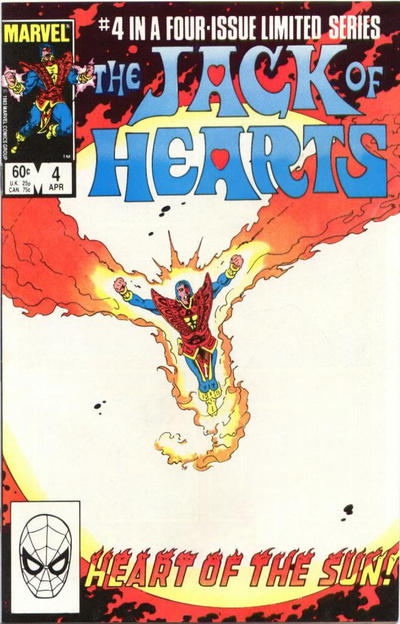 Jack of Hearts #4 comic books for sale
