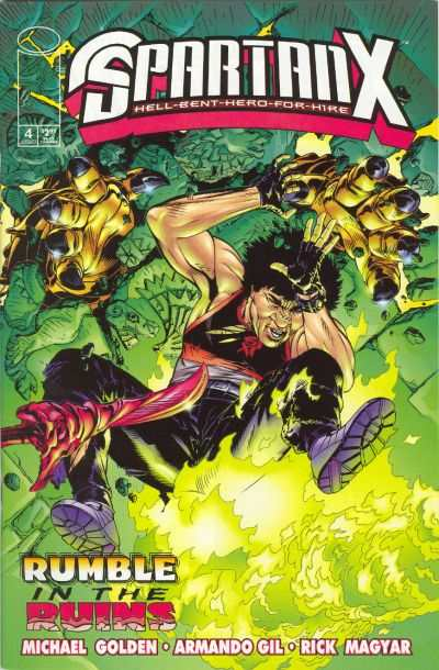 Jackie Chan's Spartan X: Hell Bent Hero for Hire #4 comic books for sale