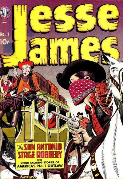 Jesse James Comic Books. Jesse James Comics.