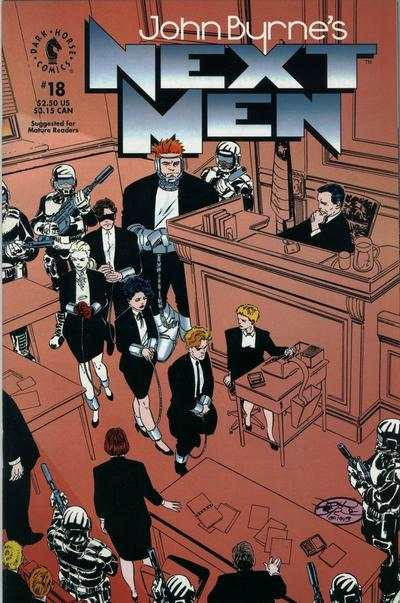 John Byrne's Next Men #18 comic books for sale