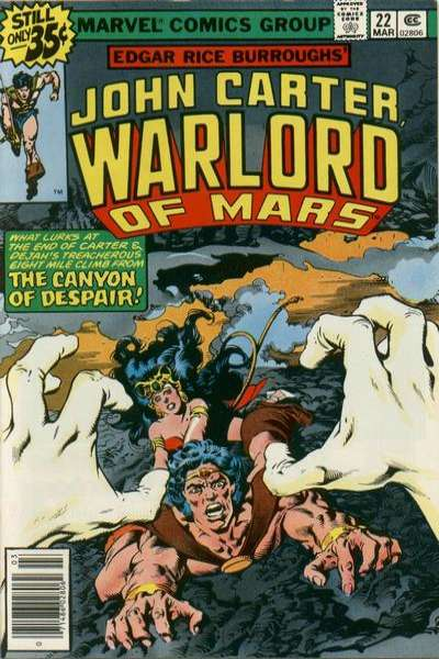 John Carter: Warlord of Mars #22 Comic Books - Covers, Scans, Photos  in John Carter: Warlord of Mars Comic Books - Covers, Scans, Gallery