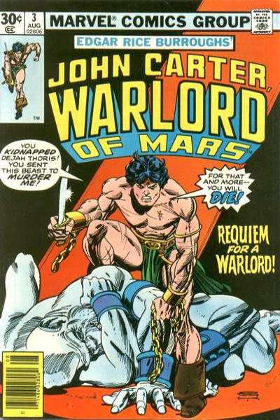 John Carter: Warlord of Mars #3 comic books for sale