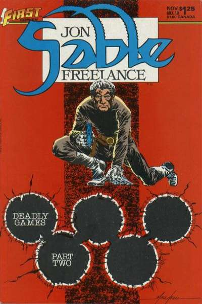 Jon Sable: Freelance #18 comic books - cover scans photos Jon Sable: Freelance #18 comic books - covers, picture gallery