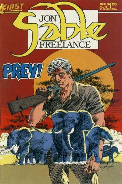 Jon Sable: Freelance #19 comic books for sale