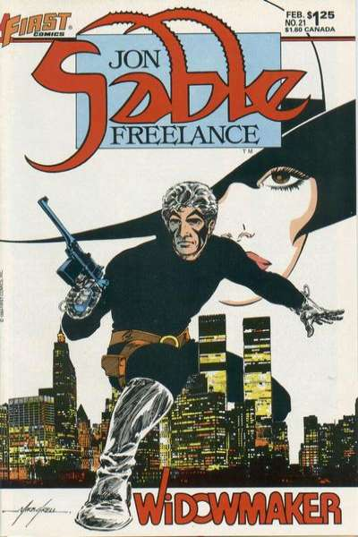 Jon Sable: Freelance #21 comic books - cover scans photos Jon Sable: Freelance #21 comic books - covers, picture gallery