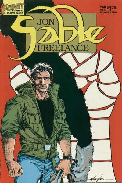 Jon Sable: Freelance #34 comic books - cover scans photos Jon Sable: Freelance #34 comic books - covers, picture gallery