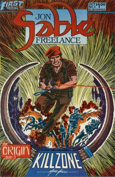 Jon Sable: Freelance #5 comic books - cover scans photos Jon Sable: Freelance #5 comic books - covers, picture gallery