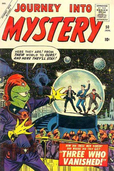 Journey into Mystery #50 Comic Books - Covers, Scans, Photos  in Journey into Mystery Comic Books - Covers, Scans, Gallery