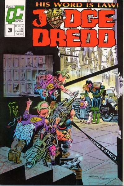 Judge Dredd #20 Comic Books - Covers, Scans, Photos  in Judge Dredd Comic Books - Covers, Scans, Gallery