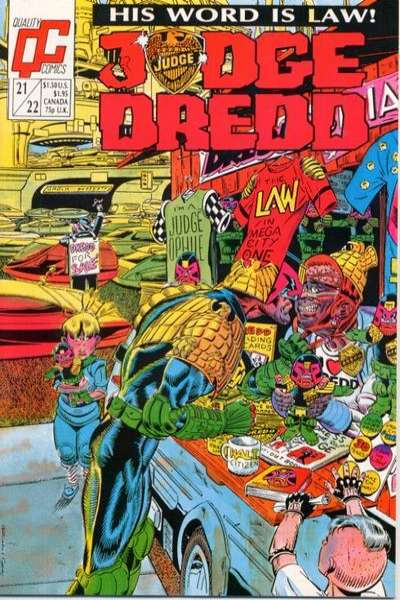 Judge Dredd #21 comic books for sale