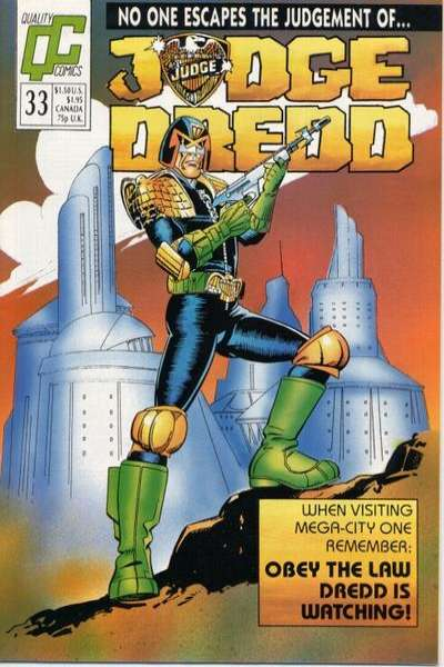 Judge Dredd #33 Comic Books - Covers, Scans, Photos  in Judge Dredd Comic Books - Covers, Scans, Gallery