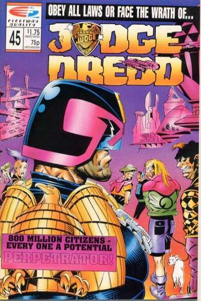 Judge Dredd #45 comic books for sale