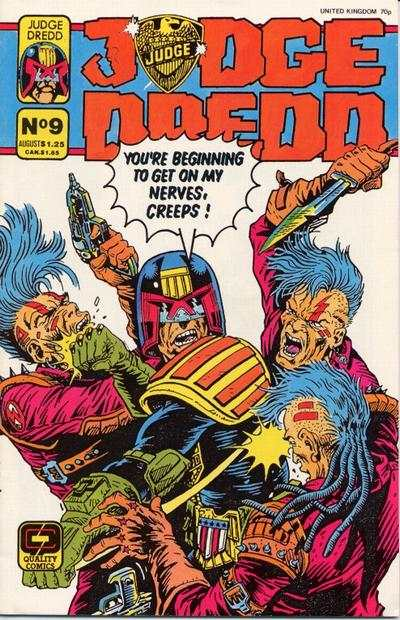 Judge Dredd #9 comic books - cover scans photos Judge Dredd #9 comic books - covers, picture gallery