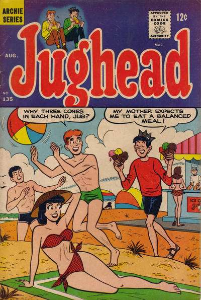 Jughead #135 cheap bargain discounted comic books Jughead #135 comic books