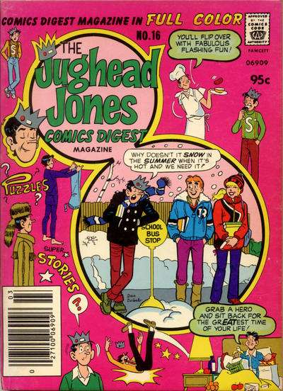 Jughead Jones Comics Digest #16 Comic Books - Covers, Scans, Photos  in Jughead Jones Comics Digest Comic Books - Covers, Scans, Gallery