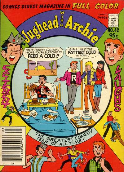 Jughead with Archie Digest #42 comic books - cover scans photos Jughead with Archie Digest #42 comic books - covers, picture gallery