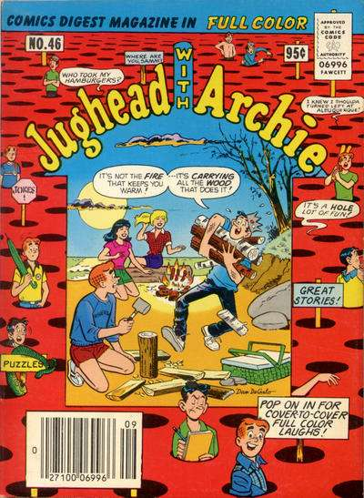 Jughead with Archie Digest #46 comic books - cover scans photos Jughead with Archie Digest #46 comic books - covers, picture gallery