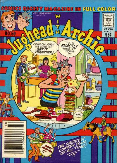 Jughead with Archie Digest #50 comic books - cover scans photos Jughead with Archie Digest #50 comic books - covers, picture gallery