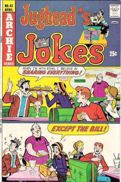 Jughead's Jokes #43 Comic Books - Covers, Scans, Photos  in Jughead's Jokes Comic Books - Covers, Scans, Gallery
