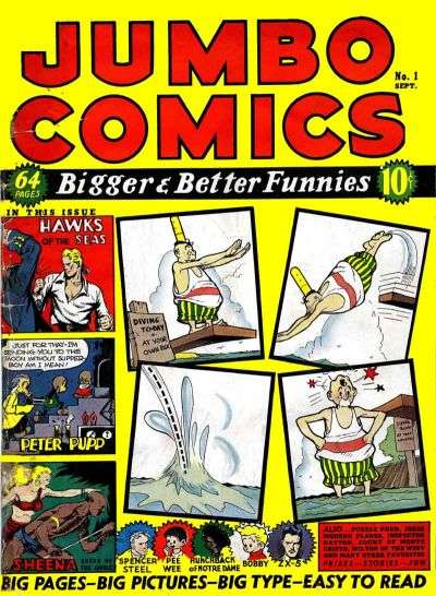 Jumbo Comics #1 Comic Books - Covers, Scans, Photos  in Jumbo Comics Comic Books - Covers, Scans, Gallery