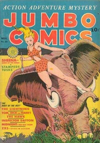 Jumbo Comics #33 Comic Books - Covers, Scans, Photos  in Jumbo Comics Comic Books - Covers, Scans, Gallery