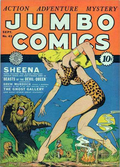 Jumbo Comics #43 Comic Books - Covers, Scans, Photos  in Jumbo Comics Comic Books - Covers, Scans, Gallery