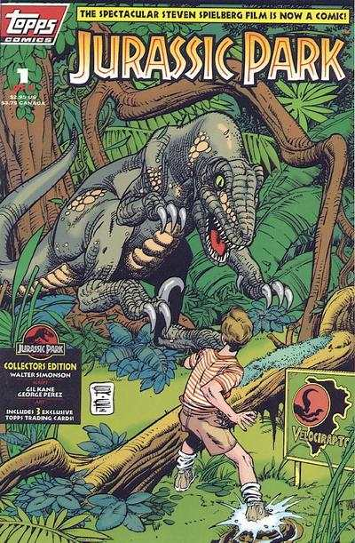 Jurassic Park #1 comic books - cover scans photos Jurassic Park #1 comic books - covers, picture gallery