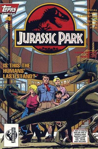 Jurassic Park #4 comic books for sale