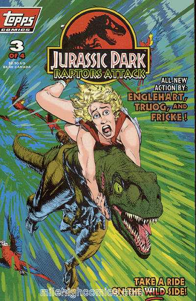 Jurassic Park: Raptors Attack #3 Comic Books - Covers, Scans, Photos  in Jurassic Park: Raptors Attack Comic Books - Covers, Scans, Gallery
