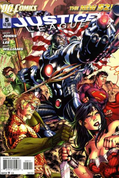 Justice League #5 Comic Books - Covers, Scans, Photos  in Justice League Comic Books - Covers, Scans, Gallery
