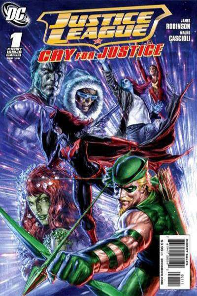 Justice League: Cry for Justice #1 Comic Books - Covers, Scans, Photos  in Justice League: Cry for Justice Comic Books - Covers, Scans, Gallery