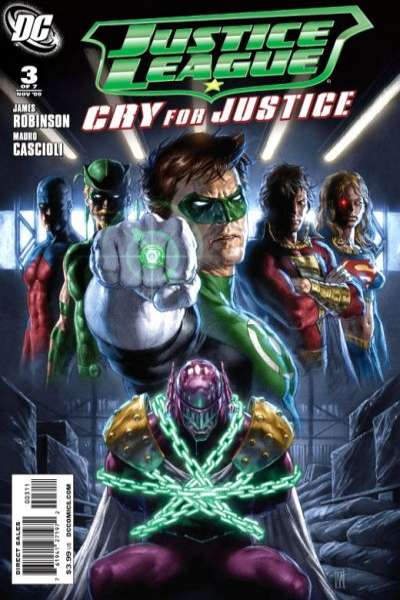 Justice League: Cry for Justice #3 comic books - cover scans photos Justice League: Cry for Justice #3 comic books - covers, picture gallery